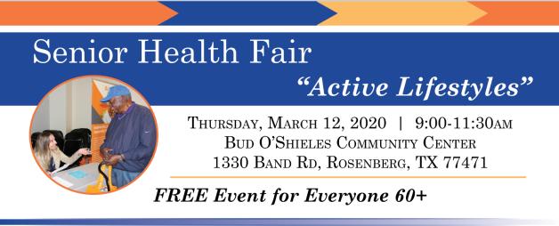 Senior Health Fair Banner